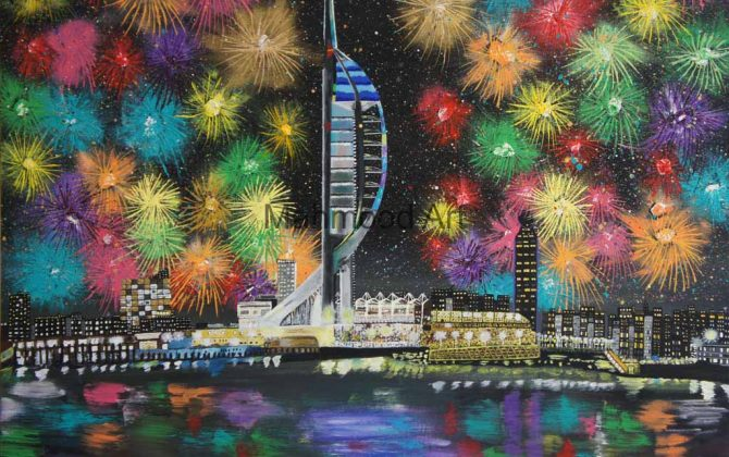 Spinnaker Tower Painting
